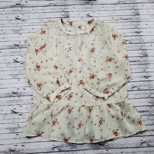 Anthropologie Pins & Needles Top Medium Blouse